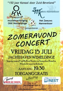 Poster zomeravondconcert A4