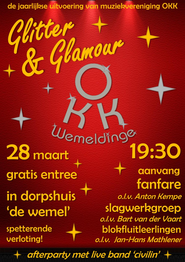 Poster glitter & glamour